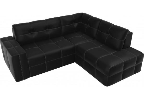Угловой диван Леос Черный (Экокожа) - фото 4