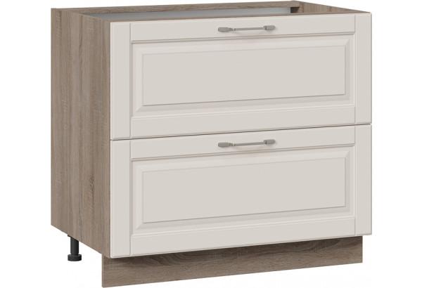 Шкаф напольный с 2-мя ящиками (СКАЙ (Бежевый софт)) - фото 1