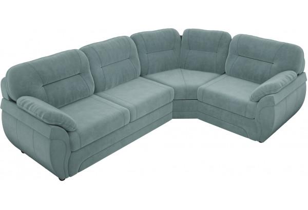 Угловой диван Бруклин бирюзовый (Велюр) - фото 3