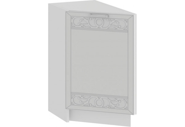 Шкаф напольный торцевой с одной дверью «Долорес» (Белый/Сноу) - фото 1
