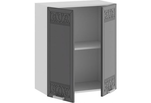 Шкаф навесной c двумя дверями «Долорес» (Белый/Титан) - фото 2