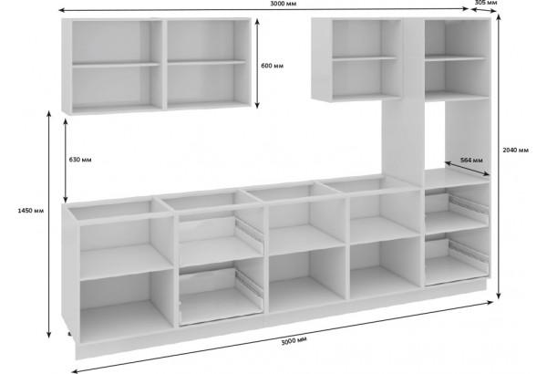 Кухонный гарнитур длиной - 300 см (с пеналом ПБ) Фэнтези (Белый универс)/(Вуд) - фото 3