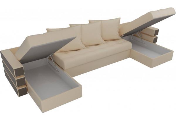 П-образный диван Венеция Бежевый (Экокожа) - фото 5