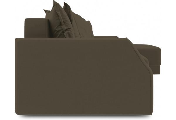 Диван угловой правый «Люксор Slim Т1» (Beauty 04 (велюр) коричневый) - фото 3
