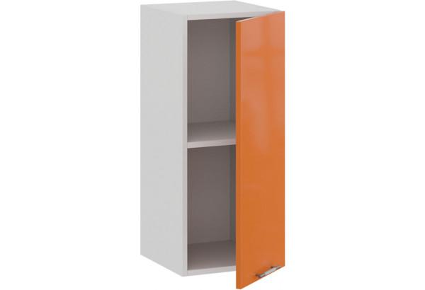 Шкаф навесной c одной дверью «Весна» (Белый/Оранж глянец) - фото 2