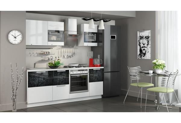 Кухонный гарнитур длиной - 210 см (со шкафом НБ) Фэнтези (Белый универс)/(Лайнс) - фото 2