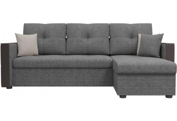 Угловой диван Валенсия Серый (Рогожка) - фото 2