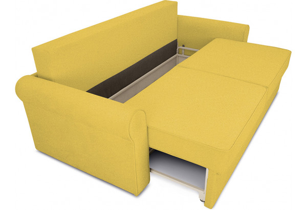 Диван «Шерри» Maserati 11 (велюр) желтый, подушки Tiffany laguna (шинил) морская волна - фото 5