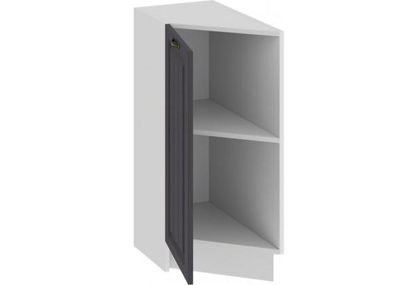 Шкаф напольный торцевой с одной дверью «Лина» (Белый/Графит) - фото 2