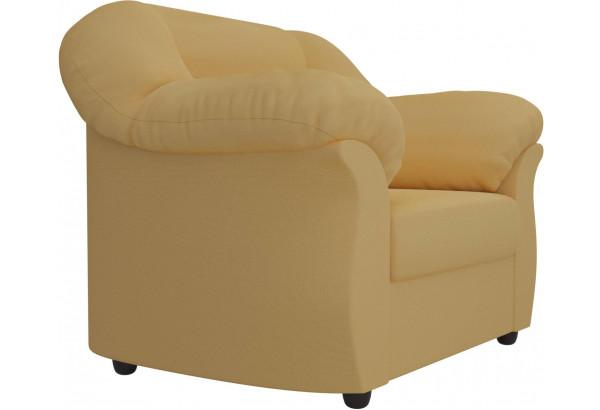 Кресло Карнелла Желтый (Микровельвет) - фото 3
