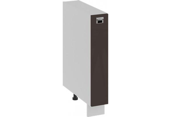 Шкаф напольный с выдвижной корзиной БЬЮТИ (Грэй) - фото 1