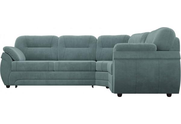 Угловой диван Бруклин бирюзовый (Велюр) - фото 2
