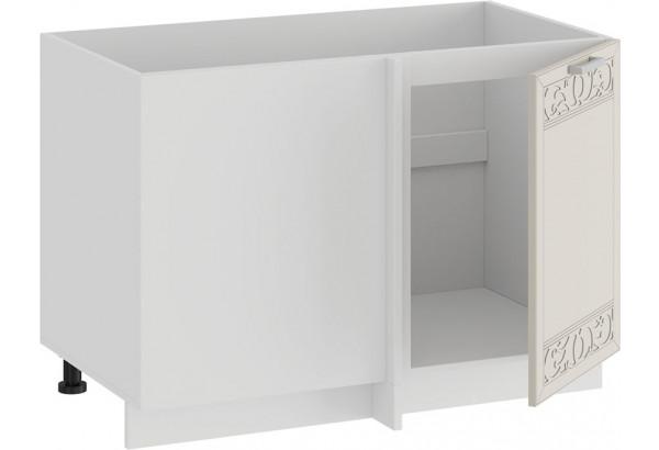 Шкаф напольный угловой «Долорес» (Белый/Крем) - фото 2