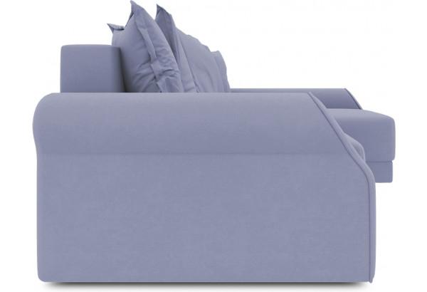Диван угловой правый «Люксор Т2» (Poseidon Blue Graphite (иск.замша) серо-фиолетовый) - фото 3