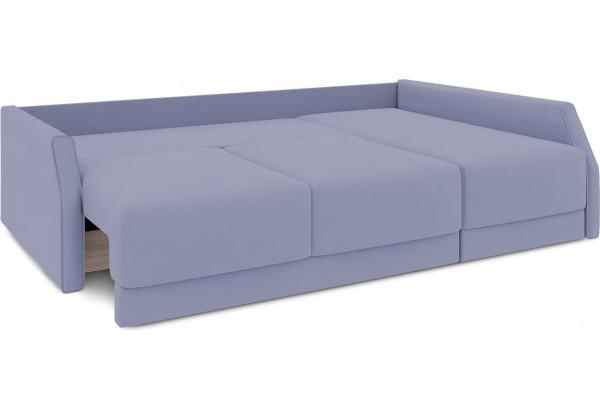 Диван угловой правый «Люксор Slim Т2» (Poseidon Blue Graphite (иск.замша) серо-фиолетовый) - фото 7
