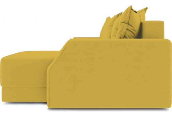 Диван угловой правый «Люксор Slim Т1» (Poseidon Curcuma (иск.замша) желтый) - фото 5
