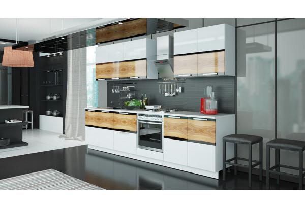Кухонный гарнитур длиной - 300 см (со шкафом НБ) Фэнтези (Вуд) - фото 2