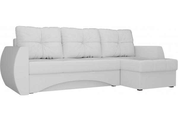 Угловой диван Сатурн Белый (Экокожа) - фото 1