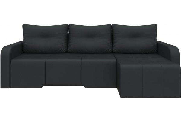 Угловой диван Манхеттен Черный (Экокожа) - фото 3