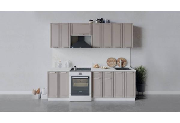 Кухонный гарнитур «Ольга» длиной 240 см (Белый/Кремовый) - фото 1
