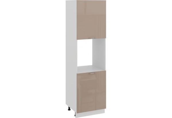 Шкаф-пенал под бытовую технику с двумя дверями «Весна» (Белый/Кофе с молоком) - фото 1