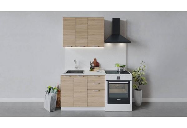 Кухонный гарнитур «Гранита» длиной 100 см (Белый/Дуб сонома) - фото 1