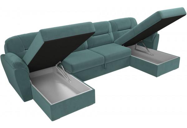 П-образный диван Бостон бирюзовый (Велюр) - фото 6