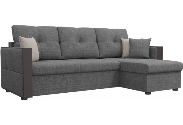 Угловой диван Валенсия Серый (Рогожка) - фото 1