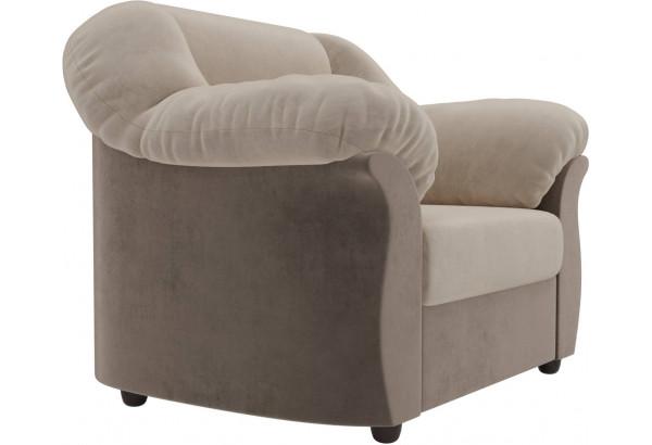 Кресло Карнелла бежевый/коричневый (Велюр) - фото 3