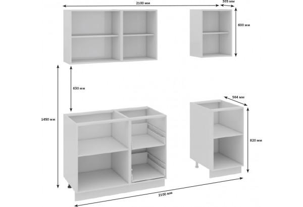 Кухонный гарнитур длиной - 210 см Фэнтези (Белый универс)/(Лайнс) - фото 3