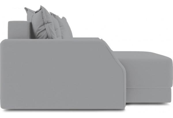 Диван угловой левый «Люксор Slim Т1» (Poseidon Grey (иск.замша) серый) - фото 5