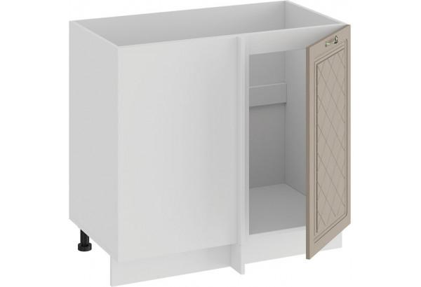 Шкаф напольный угловой «Бьянка» (Белый/Дуб кофе) - фото 2