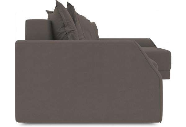 Диван угловой правый «Люксор Slim Т2» (Poseidon Coffee (иск.замша) коричневый) - фото 3