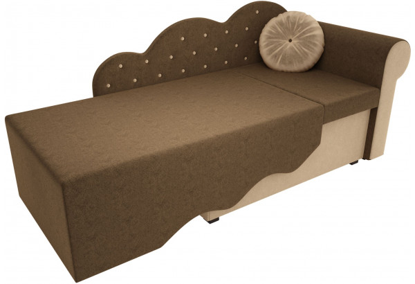 Детская кровать Тедди-1 Коричневый/Бежевый (Микровельвет) - фото 2