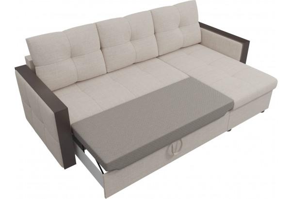 Угловой диван Валенсия Бежевый (Рогожка) - фото 6