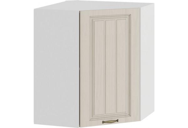 Шкаф навесной угловой «Лина» (Белый/Крем) - фото 1