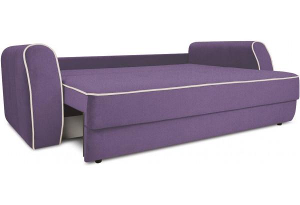 Диван «Хьюго» (Favo 67 (велюр) Фиолетовый кант Beauty 02 (велюр), капучино) - фото 6