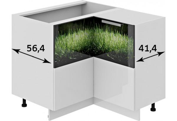 Шкаф напольный нестандартный угловой с углом 90° ФЭНТЕЗИ (Грасс) - фото 2