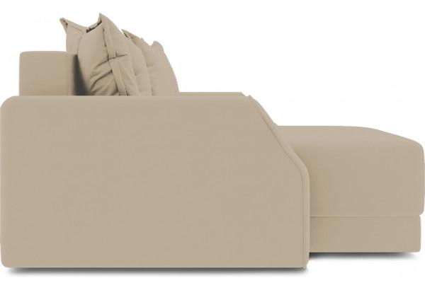 Диван угловой левый «Люксор Slim Т1» (Poseidon Latte (иск.замша) коричнево-бежевый) - фото 5
