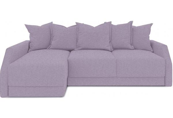 Диван угловой левый «Люксор Slim Т2» (Neo 09 (рогожка) фиолетовый) - фото 2
