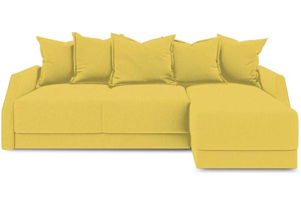 Диван угловой правый «Люксор Slim Т1» (Neo 08 (рогожка) желтый) - фото 2