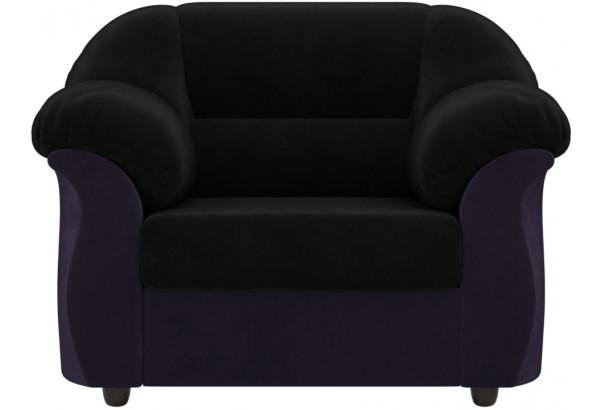 Кресло Карнелла черный/фиолетовый (Велюр) - фото 2
