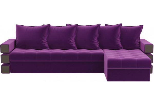 Угловой диван Венеция Фиолетовый (Микровельвет) - фото 2