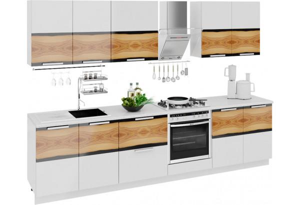 Кухонный гарнитур длиной - 300 см (со шкафом НБ) Фэнтези (Вуд) - фото 1