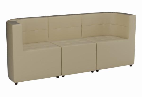Модульный диван комплект Домино Бежевый (Экокожа) - фото 1