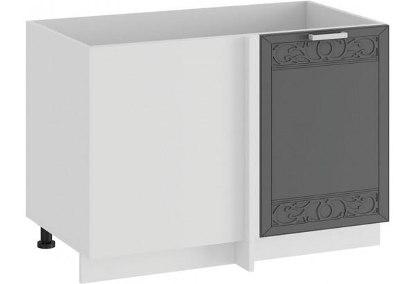 Шкаф напольный угловой «Долорес» (Белый/Титан) - фото 1