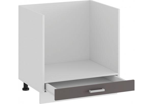 Шкаф напольный под бытовую технику «Долорес» (Белый/Муссон) - фото 2