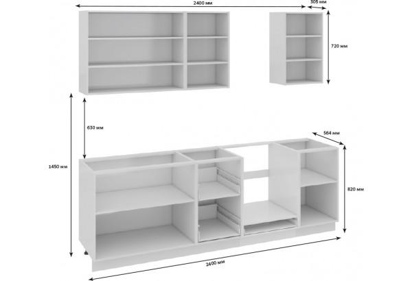 Кухонный гарнитур длиной - 240 см (со шкафом НБ) Фэнтези (Лайнс) - фото 3