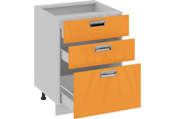 Шкаф напольный с 3-мя ящиками (БЬЮТИ (Оранж)) - фото 2
