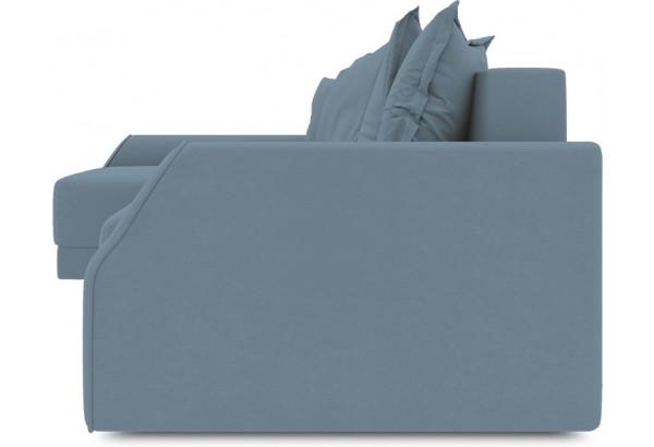 Диван угловой левый «Люксор Slim Т2» (Poseidon Ocean (иск.замша) серо-голубой) - фото 3